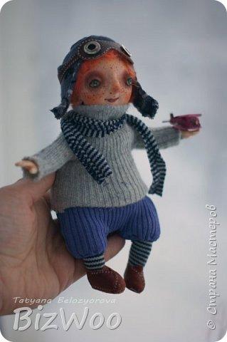 Доброго всем дня! Этот год я начала с новых кукол в смешанной технике. Они все полностью на проволочном каркасе. Рост от 15 до 35 см. фото 10