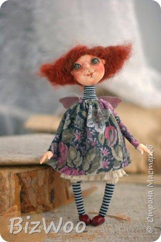 Доброго всем дня! Этот год я начала с новых кукол в смешанной технике. Они все полностью на проволочном каркасе. Рост от 15 до 35 см. фото 12