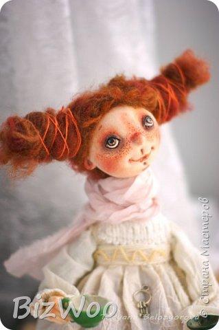 Доброго всем дня! Этот год я начала с новых кукол в смешанной технике. Они все полностью на проволочном каркасе. Рост от 15 до 35 см. фото 13