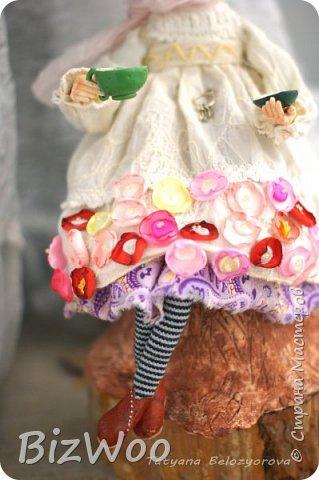 Доброго всем дня! Этот год я начала с новых кукол в смешанной технике. Они все полностью на проволочном каркасе. Рост от 15 до 35 см. фото 14