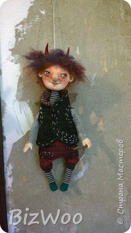 Доброго всем дня! Этот год я начала с новых кукол в смешанной технике. Они все полностью на проволочном каркасе. Рост от 15 до 35 см. фото 17