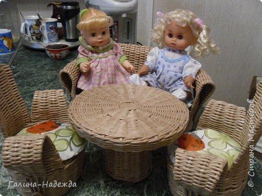 Добрый вечер жители и гости прекрасной Страны мастеров!!!! Хочу показать Вам, какую мне удалось сплести кукольную мебель  для своей внучки на ДР. Сподвигнули меня на это работы Марголины и Пустельги. Насмотрелась их работ и приступи. Задумала сплести такого размера чтобы она подошла для кукол ростом 30см. фото 1