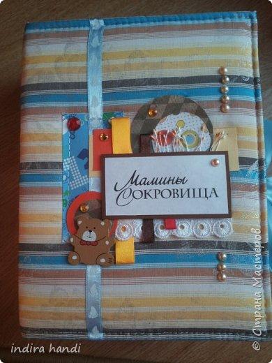 Для своего лапочки сыночка, я сделала комплект. Коробочку мамины сокровища, папочку свидетельство о рождении и мини папочка для компакт дисков с фотографиями своего малыша. фото 1