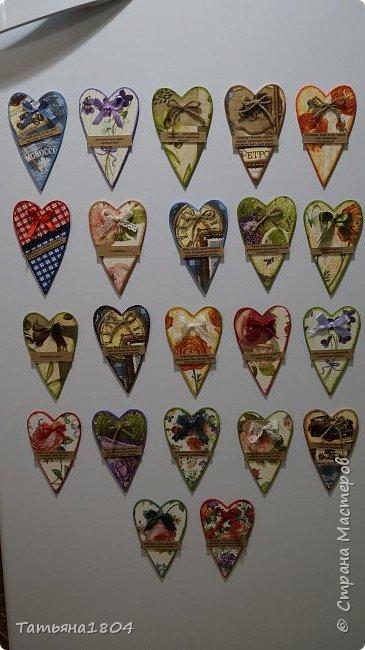 Магниты-валентинки на холодильник с признаниями 13х8 см. Пластик ПВХ, декупаж, магнитный винил.  фото 1