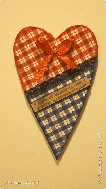 Магниты-валентинки на холодильник с признаниями 13х8 см. Пластик ПВХ, декупаж, магнитный винил.  фото 5