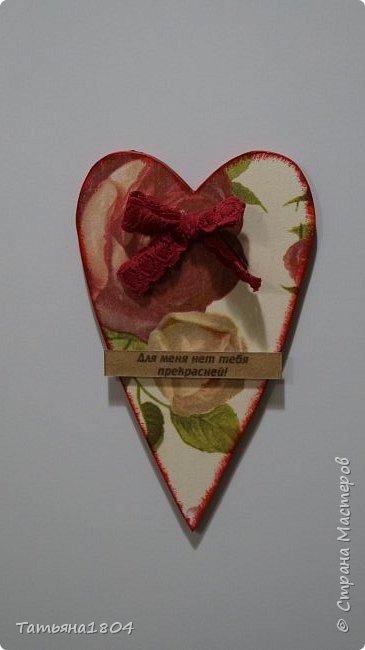 Магниты-валентинки на холодильник с признаниями 13х8 см. Пластик ПВХ, декупаж, магнитный винил.  фото 22