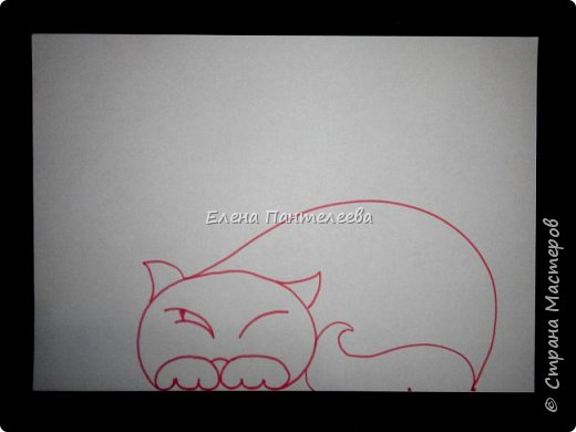 Рисуем кошку с птичками. фото 12