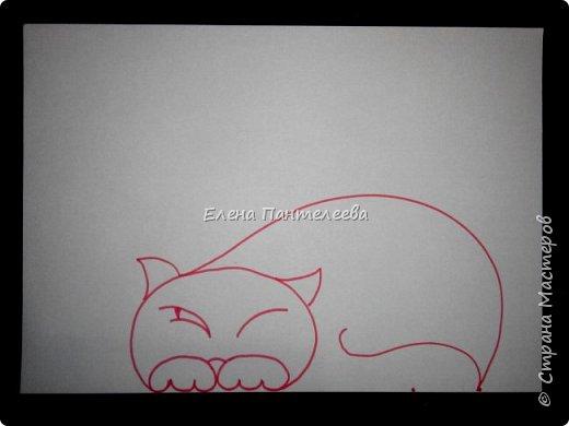 Рисуем кошку с птичками. фото 11