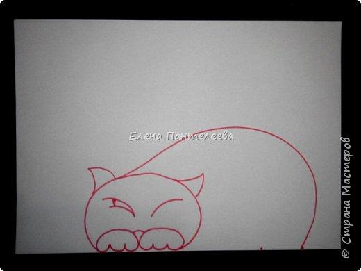 Рисуем кошку с птичками. фото 10