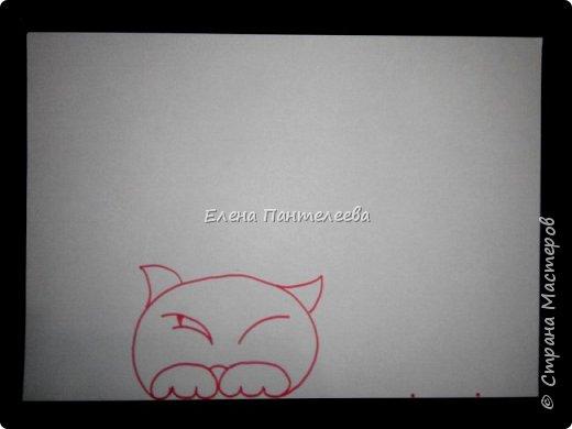 Рисуем кошку с птичками. фото 9