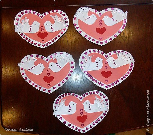 Добрый день жители города мастеров! Поздравляю вас с праздником Любви днем Валентина! Очень понравилась работа на сайте страны мам, (http://www.stranamam.ru/post/7144306/)  но мы с ребятами решили ее переделать используя  немного другие материалы.   фото 11