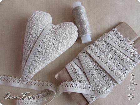 Всем здравствуйте! Представляю вашему вниманию текстильные сердечки:)) фото 6