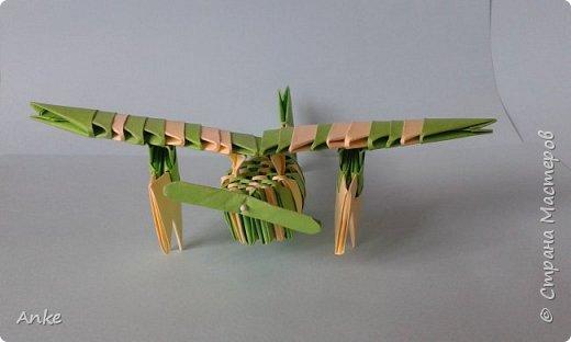 К приближающемуся празднику сделала совсем простой самолетик.  фото 3