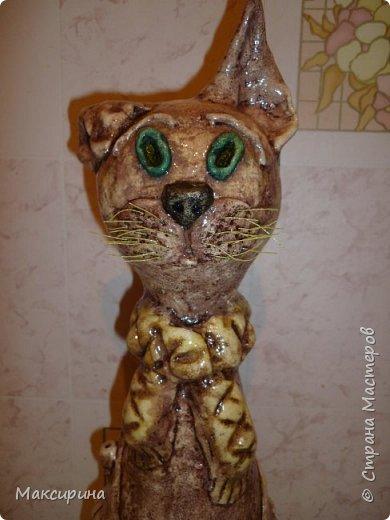 Здравствуйте!!!  Всем доброго времени суток!!!  Давняя мечта, слепить кота на бутылке осуществилась. Первая моя работа с соленым тестом. Кот-повторюшка с этого кота    http://stranamasterov.ru/node/458447   , и с этого    http://stranamasterov.ru/node/533027       Спасибо девочкам большущее.  фото 8