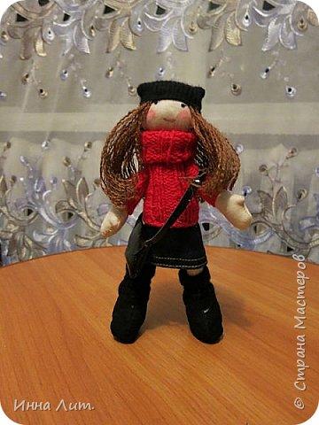 Приветствую Вас,жители!Решила попробовать шить куклы.Это мои первые.Корявенькие конечно немного,но первые все таки. фото 2
