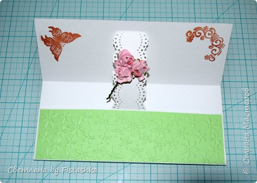 Здравствуйте, мастера и мастерицы) Вот сотворила я открытки на День рождения) Эта открытка сделала коллеге сестры. Сестра просила сделать в желто-фиолетовом сочетании. Вот что получилось фото 6