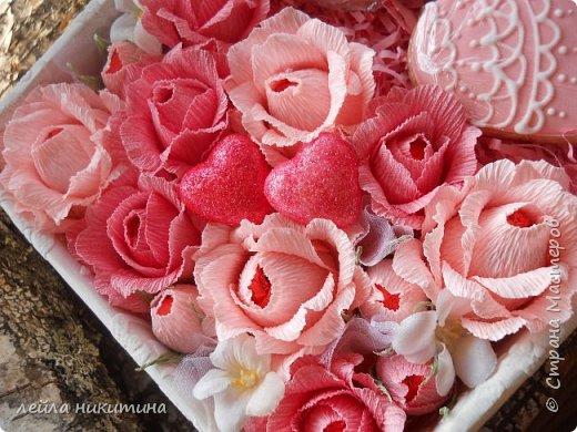 Всем доброго времени суток,Мастерицы!!! А влюбленных с праздником!!! К дню Святого Валентина у меня всего одна работа и та выполнена для друзей.Sweet box c песочными печеньями. фото 2