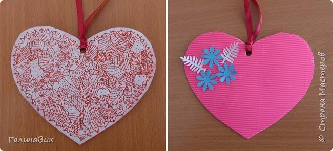 На уроке кружка ребята делали открытки и поделки к празднику святого Валентина. Мои образцы здесь http://stranamasterov.ru/node/1001208 и здесь:-)  http://stranamasterov.ru/node/1002295  А теперь предлагаю посмотреть несколько открыток, сделанных ребятами.  Эта работа мальчика. Изобразил очень милое семейство медведей. фото 13