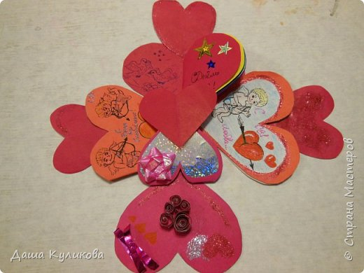 Хочу поделиться с вами,какие валентинки сделала к 14 февраля) фото 1