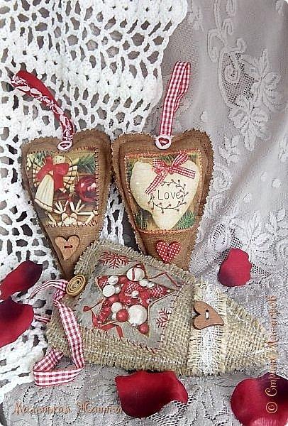 Приветствую всех! С днём Святого Валентина, праздником влюблённых!   Представляю Вашему вниманию свои текстильные сердечки Тильда.  фото 3