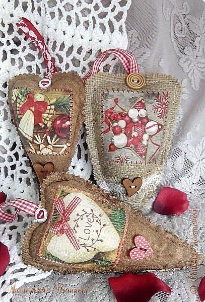 Приветствую всех! С днём Святого Валентина, праздником влюблённых!   Представляю Вашему вниманию свои текстильные сердечки Тильда.  фото 4