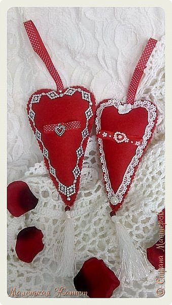 Приветствую всех! С днём Святого Валентина, праздником влюблённых!   Представляю Вашему вниманию свои текстильные сердечки Тильда.  фото 5