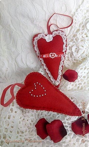 Приветствую всех! С днём Святого Валентина, праздником влюблённых!   Представляю Вашему вниманию свои текстильные сердечки Тильда.  фото 7