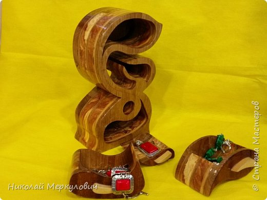 """""""Зайка""""-выполнен из дуба,венге,яблони  и береза. фото 4"""