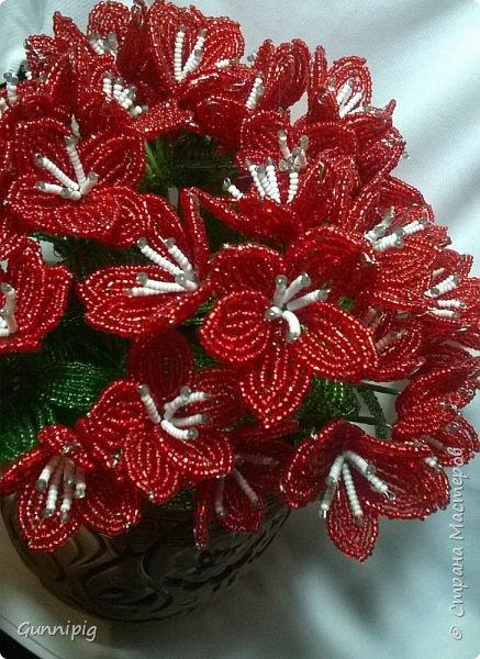 вот такой кустик получился под заказ. 51 цветочек и тонна бисера!)) фото 6