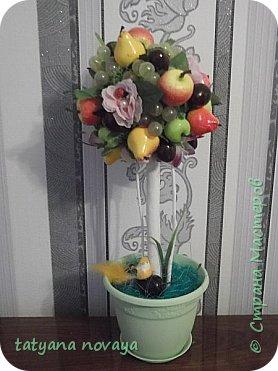 Посмотрев на просторах нета фото фруктовых деревьев, захотела сделать себе убранство на кухню. Вот что получилось. фото 1
