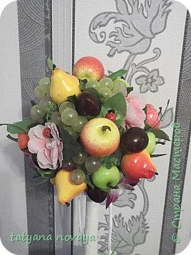 Посмотрев на просторах нета фото фруктовых деревьев, захотела сделать себе убранство на кухню. Вот что получилось. фото 3