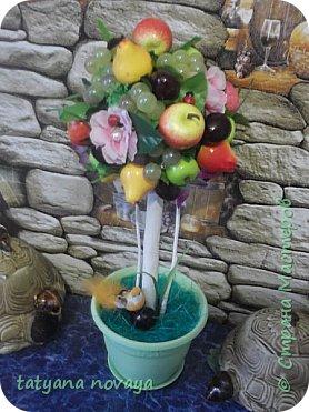 Посмотрев на просторах нета фото фруктовых деревьев, захотела сделать себе убранство на кухню. Вот что получилось. фото 2
