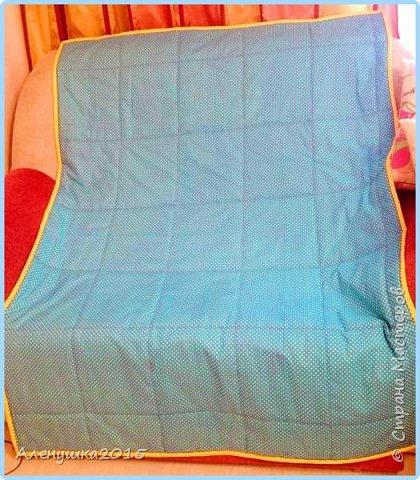 Вот такое веселое одеялко получилось сшить всего за 4 часа. Размер 150*105см  фото 4
