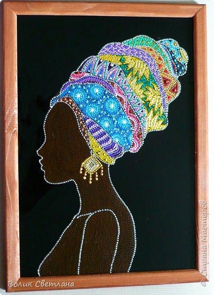 Здравствуйте, дорогие мастерицы! Новая порция африканских девушек. Не отпускают они меня)))) фото 7
