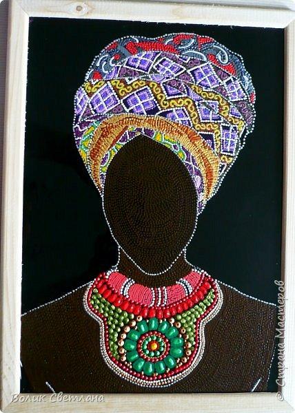 Здравствуйте, дорогие мастерицы! Новая порция африканских девушек. Не отпускают они меня)))) фото 4