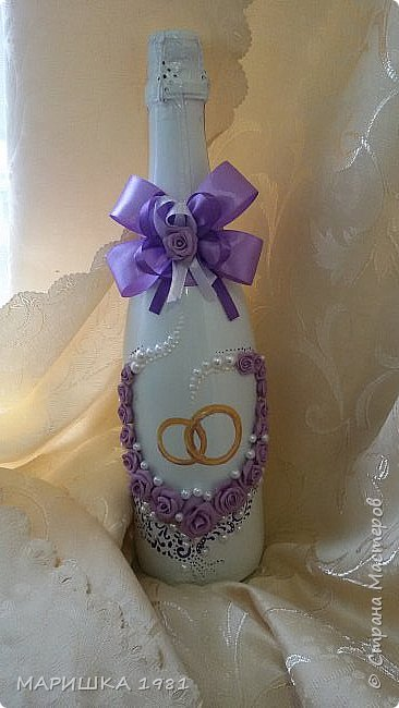 Свадебная бутылочка  фото 1