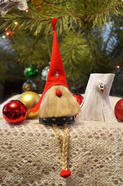 Добрый день! На новогодних каникулах сшились вот такие гномы из фетра.  фото 2
