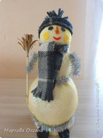 Девочки порадуйтесь за меня ! Подарили на день влюблённых мне такого снеговика !А внутри бутылочка. фото 1