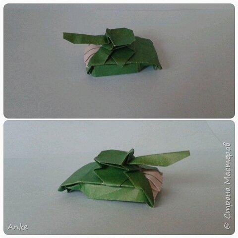 Танки сделаны из бумаги А4 делаются быстро и просто. За исключением маленького. На него я потратила 45 минут. фото 2