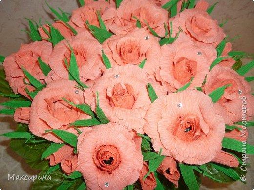 Здравствуйте!!!  Всем доброго времени суток!!! Хочу показать несколько работ собраных вместе.  Эту корзину с розами делала на день рождения для подруги моей дочери. фото 1