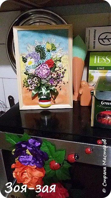 Цветы Урала (вышивка лентами) фото 5