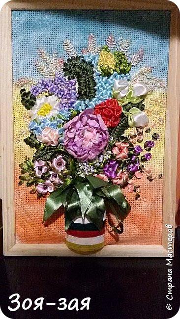 Цветы Урала (вышивка лентами) фото 4