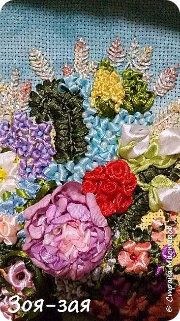 Цветы Урала (вышивка лентами) фото 2