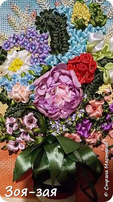 Цветы Урала (вышивка лентами) фото 1