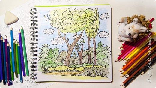 Видео МК. Рисуем лес