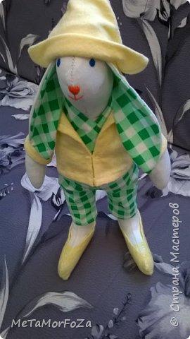 Интерьерные игрушки зайцы тильда рост 40 см самостоятельно стоят, сидят с опорой. Могут стать замечательным украшением интерьера или лучшим друзьями вашего малыша. фото 4