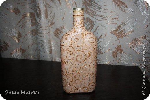 Декупаж бутылок и бокалов фото 18