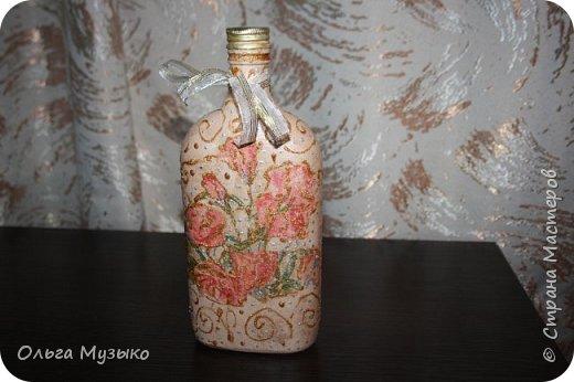 Декупаж бутылок и бокалов фото 17