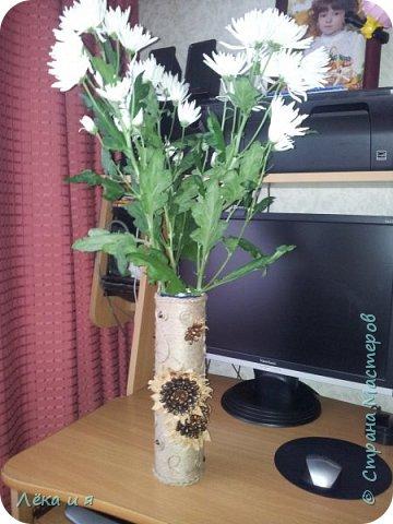 Шпагатно-кофейная ваза для любимой сестренки фото 1