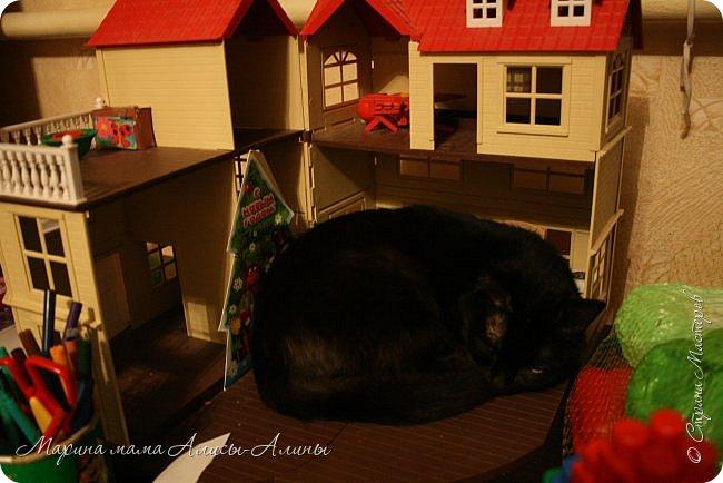 На новогодних каникулах чуть-чуть пошила. Ночнушка для Алисы.Красивая фланелька!В рисунок влюбилась! фото 9